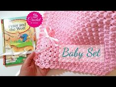 How to Crochet a Baby Blanket #1 Fast & Easy Baby Shower Set  ☕ The Crochet Shop - YouTube