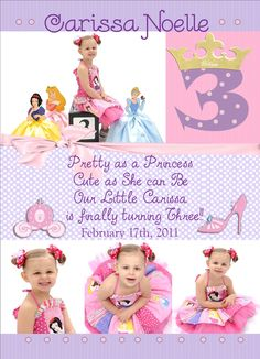 Princess Birthday Invitation Just Need To Change Be Something That Rhymes With Four