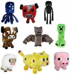 Cool Minecraft Plush Set - makes a great birthday gift! *ad http://amzn.to/1eNMkUC