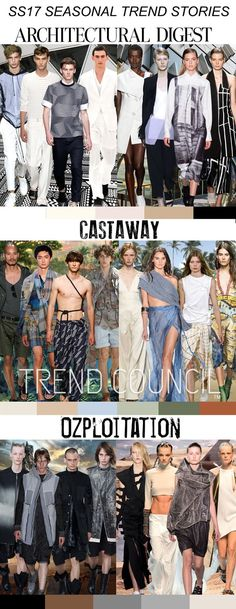 TRENDS // TREND COUNCIL - WOMENS AND MENS . SS 2017