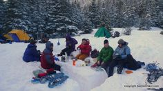 """A Winter Camp Kitchen- how fun awesome does this look?! Tons of important  info here for beginners- yup= that would be me! """")"""