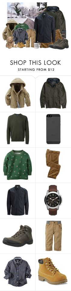 """""""Father and Son Snow Trip"""" by felixfernanda ❤ liked on Polyvore featuring RVCA, Paul Smith, SELECTED, FOSSIL and Teva"""
