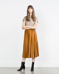 ZARA - WOMAN - HIGH NECK T-SHIRT
