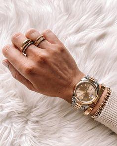 Fashion Jackson Wearing Dainty Gold Jewelry Rolex Oyster Per Cartier Love Wedding Band, Cartier Love Ring, Wedding Rings, Cartier Jewelry, Jewellery, Dainty Gold Jewelry, Gold Necklace Simple, Gold Earrings, Bijoux En Or Simple
