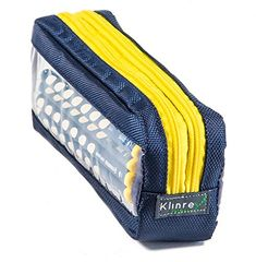 Double Sided Pencil Case with Peek Windows. PeeKcase (Navy - yellow zipper) *** To view further for this item, visit the image link.