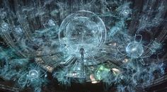 #Matrix Reality projector looks similar this vision from Prometheus. From the point of 5-6 dimensional worlds our 3 dimensions are just a interactive holographic projection...