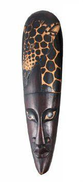 Amazon.com: African Jungle Giraffe Mask Wall Hanging Africa Decor: Furniture & Decor