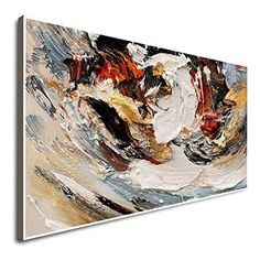 Amazon.com: Large White Abstract Painting Famous Abstract Artists 3D Art Hands Wall Art Original Painting Canvas Wall Art Painting Canvas: Handmade