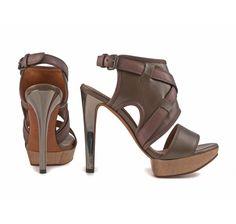 Lanvin brown leather platform sandals (AW5C3CDORC6A) - Bledoncy