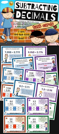Included in this pack are three (3) sets of cards for a total of one hundred (100) task cards! The problems have varying levels of difficulty which will provide excellent practice to students at all skill levels.