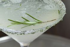 Rosemary Lemon Drop Martini - the perfect drink for a hot summer's day...and it won't stain your teeth!
