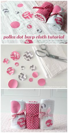 How to make burp cloths on the Polka Dot Chair Sewing Blog