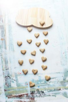 ... cookies with poppy seeds in a heart shape ...