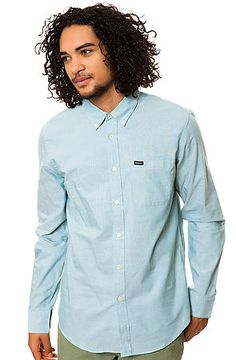 The That'll Do Long Sleeve Buttondown in Shoal Blue by RVCA