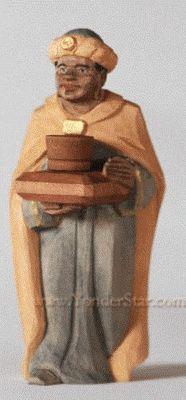 Wiseman Kaspar - Huggler Nativity Woodcarving - New for 2016