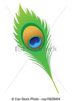 Clipart Vector of abstract artistic peacock feather vector ...