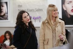 Max (Kat Dennings), Caroline (Beth Behrs) ~ 2 Broke Girls ~ Episode Still ~ Season 3: Episode 17: And the Married Man Sleepover #amusementphile