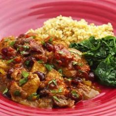 Curried Chicken with Fresh & Dried Cranberries Recipe via @EatingWell Magazine