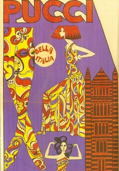 from astronaut wives club. The wives got into Pucci and beehives as the progressed Ringo Starr, Vintage Advertisements, Vintage Ads, Illustrations, Illustration Art, Retro Art, Psychedelic Art, Mellow Yellow, Emilio Pucci