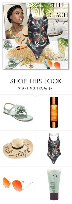 """""""NEW CONTEST! ROSEGAL new one piece swimwear- 2 winner will win $20 cash"""" by astromeria ❤ liked on Polyvore featuring Martha Stewart, Clarins, H&M and Wella"""