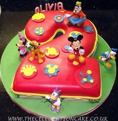 Mickey Mouse Clubhouse Birthday Cake Toppers. cute idea but with a number 1