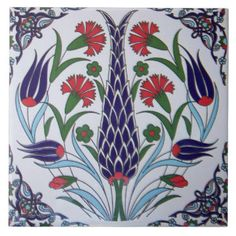 http://www.zazzle.com.au/pattern+6x6+tiles?pg=6&ps=120 Turkish Flower Design Ceramic Photo Tile