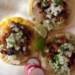 Karen Chan with her favorite version of the Mexican classic Tacos Al Pastor.