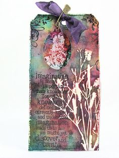 Alcohol Faux Bleach Tag by Sherry Cheever