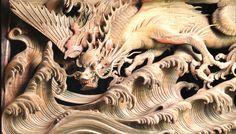 Fanlight caving-Namino Ihachi 波の伊八