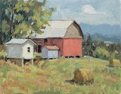 "Daily Paintworks - ""DAY 13: Cedar Ridge Morning"" - Original Fine Art for Sale - © Stuart Roper"