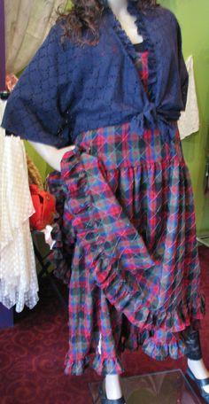 Town or Country gypsy boho chic. Tarten plaid by anniebDesignz, $175.00