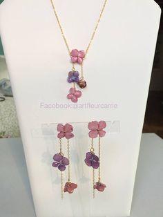 Hydrangea Earrings Earrings made with real hydrangea flowers