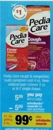 FREE PediaCare at CVS after Deal on Sunday (1/05)