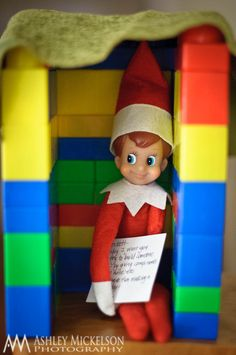 elf on the self ideas... use Elf to tell what the daily service and fun activity for the day is... encouraging good behavior. This was our Christmas advent calendar in a way.