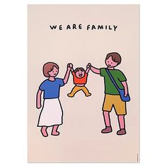 ZERO PER ZERO We Are Family We Are Always Together Keyring and Keychain