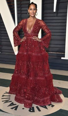 Tracee Ellis Ross in Zuhair Murad Couture attends the 2017 Vanity Fair Oscar Party. #bestdressed