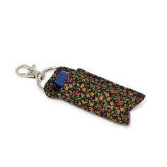 Lip balm holder chap stick holder Floral clip on lip balm