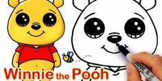 Draw So Cute Disney Winnie the Pooh Kawaii Drawings, Cartoon Drawings, Easy Drawings, Animal Drawings, Pencil Drawings, Disney Princess Drawings, Disney Drawings, Black Cat Drawing, Cute Winnie The Pooh