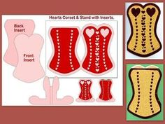 SVG Corset Card2,Stand & Inserts.....