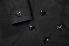 Autumn/Winter '15 #BLACK collection preview: military inspired double breasted laser cut trench coat made with a special two layer cotton.