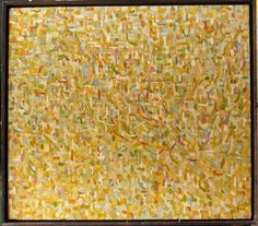 Abstraction in Yellows | From a unique collection of abstract paintings at http://www.1stdibs.com/art/paintings/abstract-paintings/