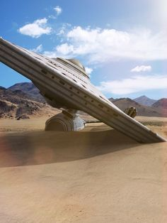 Star Trek Earthship Enterprise - Dust and grime by ~thefirstfleet on deviantART