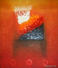 Resplandor en Ocre Autor: José Contreras Categoría: Pintura. Técnica: Oleo y pastas sobre lienzo. Medidas: 77 x 67 cms. Fecha: 2013. Marco: Si. Firma: Si.