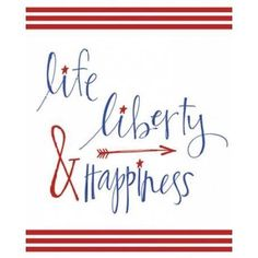 Posterazzi Life Liberty and Happiness Canvas Art - Katie Doucette (24 x 30)