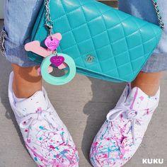 Tvorivosti a fantázii sa medze nekladú☝️Baby pinkⓍ MintⓄ  adidas original,xo,pink,mint,chanel