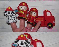 Fireman Quiet Book To the Rescue fireman set felt by AllAboutKraft