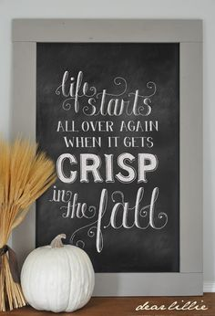 """Life starts all over again when it gets crisp in the fall."" ― F. Scott Fitzgerald, The Great Gatsby"