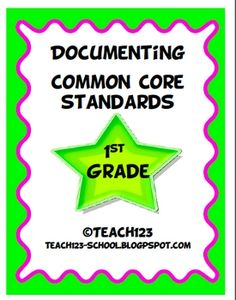 Documenting Common Core Standards-1st Grade $5
