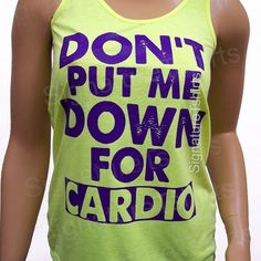 Down for cardio racerback tank. Crossfit tank. by signaturetshirts