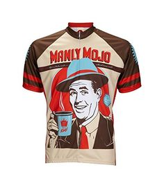 Manly Mojo Coffee Cycling Jersey by World Jerseys Mens XL Short Sleeve -- Be sure to check out this awesome product.Note:It is affiliate link to Amazon.